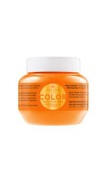 KJMN Color Masca de par cu ulei de seminte de in si filtru UV protector de culoare pentru par vopsit, despicat